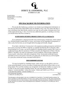 DWI Intro Letter